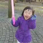 寒いのにお外で遊ぶのが大好きな娘(笑)